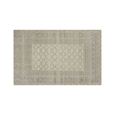 Rosalie Neutral Hand Knotted Oriental 5'x8' Rug | Crate and Barrel