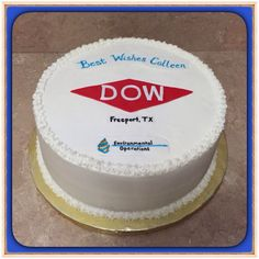 Dow Chemical Best Wishes Cake