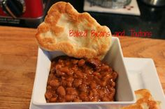 Newfoundland Baked Beans and Toutons Fried bread dough, Molasses beans Baked Bean Recipes, Crockpot Recipes, Cooking Recipes, Bread Recipes, Canadian Cuisine, Canadian Food, Canadian Recipes, Newfoundland Recipes, Rock Recipes
