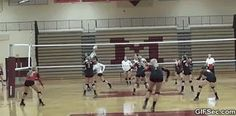 Shana) My friend sent me this from my last volleyball game! I'm the one that did the splits!