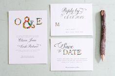 Printable Garden Monogram Wedding Invitation by TheWoolberryPress, $45.00