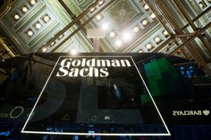 A Goldman Sachs sign is seen above the floor of the New York Stock Exchange shortly after the opening bell in the Manhattan borough of New York January REUTERS/Lucas Jackson Interest Rate Swap, Anthony Scaramucci, Goldman Sachs, Stock Broker, Thing 1, Financial News, General Motors, Wall Street, Street Work