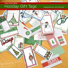 Holiday Gift Tags designed by Jen Goode