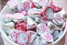 30th birthday Hershey's Kisses! #30thbirthday #candy