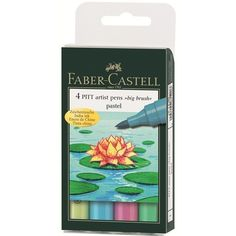 Faber-Castell PITT Artist Pen Big Brush Pastel 4 Colors Professional #FaberCastell