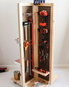 How to Make a Rolling Pegboard Tool Cart