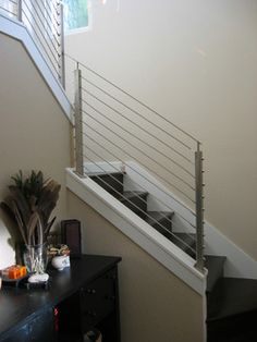 Stair Railings Design Ideas - i like the railing & stairs painted all one color