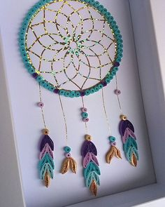 New dreamcatcher all finished! And they are only £20 posted! #quilled #dreamcatcher