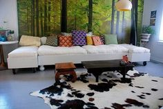 The cow rug,love it!!!