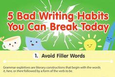 5 terrible writing habits to avoid