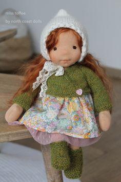 Miss Toffee by North Coast dolls Felt Dolls, Baby Dolls, Waldorf Toys, Doll Shop, Hello Dolly, Diy Doll, Fabric Dolls, Doll Patterns, Doll Clothes