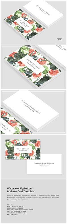 Printing xpert printingxpert on pinterest watercolor fig pattern business card by design co reheart Images