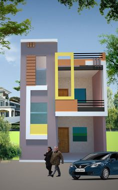 House Balcony Design, House Design, 3 D, Floor, Outdoor, Home, Roof Tiles, Pavement, Outdoors