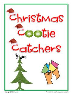 Christmas Cootie Catchers - FREE!