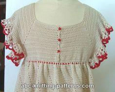 ABC Knitting Patterns - American Girl Doll Summer Raglan Dress .