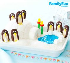 The Cool-As-Ice-Cream Cake: This ice-cream-and-cookie treat will make your birthday child feel like he's on top of the world (actually the bottom!). Be sure to make a penguin for each partygoer, as everyone will want his own sweet friend.