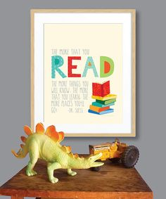 Take a look at this Beige 'The More That You Read' Print by Ellen Crimi-Trent on today!