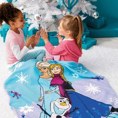 """AVON - Disney Frozen Musical Blanket .. This 40"""" x 50"""" musical blanket plays everyone's favorite """" let it go"""" and features an adorable image of Anna, Elsa, and Olaf.. Ages 3 and up! Super soft fleece .. Battery included is contained in removable compartment . Which makes the blanket easy to machine wash and dry ..  Order # 206-354 $24.99"""