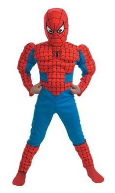 Amazon.com: Spider-Man Muscle Kids Costume: Clothing