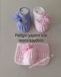 Der Neuen : Nagyon csinos bébi cipő: Deze pin is bijvoorbeeld gemaakt door Son. Baby Booties Knitting Pattern, Booties Crochet, Crochet Baby Booties, Baby Knitting Patterns, Knitting For Kids, Easy Knitting, Diy Crafts Crochet, Crochet Baby Sandals, Knitted Baby Clothes