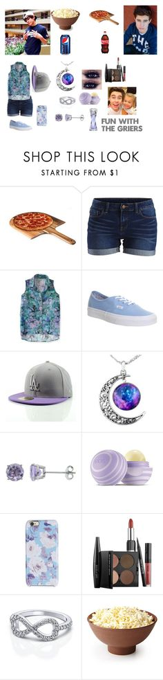 """""""Fun With The Griers (Movies and FOOOOOD= bae)"""" by daisy0320 ❤ liked on Polyvore featuring Picnic Time, VILA, Aéropostale, Vans, Eos, Isaac Mizrahi, MAKE UP FOR EVER and Lancôme"""