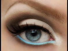 School or Work Makeup Tutorial: Neutral eyes with a pop of color - YouTube