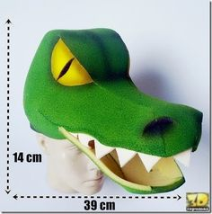 manualidades gorros y visera de cocdrilo (7) Crocodile Costume, Mascaras Halloween, Printable Masks, Dinosaur Crafts, Projects To Try, Art Projects, Art For Kids, Kid Art, Peter Pan