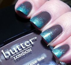 Tee Total + Turquoise Glitter | #NOTD