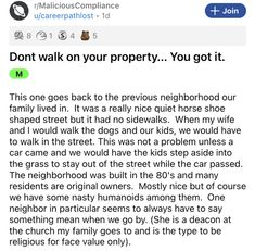 """The importance of """"the property line"""" is a focus of a whole lot of neighbor-themed drama. But what if one were to discover that the property line wasn't what it seemed? #neighbor #sidewalk #story #lol #drama #wtf"""