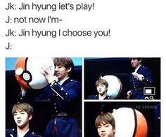bts memes jin and jungkook. LOLLL