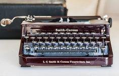 1930s Smith-Corona Maroon Portable Typewriter   ...I found mine at a local estate auction...B.W.