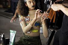 Backstage at Fenty X Puma by Rihanna Fall 2016 - -Wmag