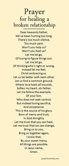 Prayer for letting go
