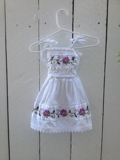 Check out this listing on Kidizen: White Floral Embroidered Mexican Dress via @kidizen #shopkidizen