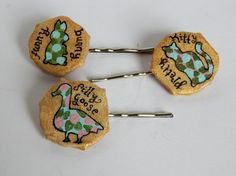 Animal Pun Hair Pins // Set of 3 Bobby Pins // by PeelsandPosies, $9.00