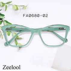 dc7c2eea3d Zeelool Optical · Love nature! Tree color! Ulrica Rectangle Green Glasses  FA0680-02
