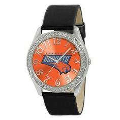 Charlotte Bobcats Ladies Watch - Designer Diamond Watch by Game Time. $39.95. 50 Crystal Stones-Water Resistant Up To 3 ATM; Officially Licensed Charlotte Bobcats Ladies Designer Diamond Watch; Stainless Steel And Leather; Approximately 1 Inch Face; Women. Charlotte Bobcats women's watch. This Bobcats designer diamond watch features a metal case with 50 crystal stones. The watch is made of a patent leather strap, brass dial, stainless steel buckle, case back an...
