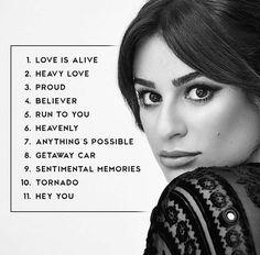 Track list of Lea Michele's album Places