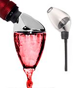 This 2-in-1 wine tool can swirl wine before it reaches the glass. #aeration.  #wineaerator #wine #bestwineaerator #cheapwineaerator #portable #wineaeratorstand #wineaeratorreviews