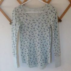 •We the Free• Floral Thermal Top •Brand new without tags - one small part near the neckline that was not stitched up (shown in the second photo)   •Tagged XS - could fit XS and S depending on desired fit   •Gorgeous pastel blue color with dark blue and green flowers   •50% cotton, 50% polyester   •We the Free by Free People Free People Tops Tees - Long Sleeve