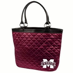 NCAA Mississippi State Quilted Tote, Maroon by Little Earth. $23.91. NCAA Mississippi State University Quilted Tote, Maroon