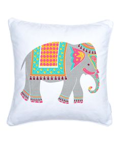 Look at this Bright Elephant Throw Pillow on #zulily today!