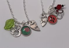 Harley Ivy Bff Necklace Set DC Comic Inspired Jewelry Harley
