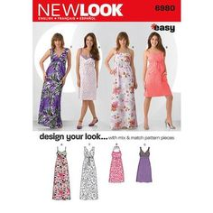 New Look 6980 Women's Dress 4 - 16 | Spotlight Australia