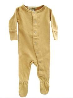 L'oved baby coverall in caramel L'ovedbaby Gloved-Sleeve Overall in Caramel