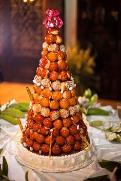 Croquembouche French Wedding Cake I Want This For My Bridal Shower Molly