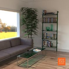 Should green shelving that is also Eco-Friendly be called Green Green Shelving? Shelf Hardware, Modern Shelving, Ceiling Height, Wall Mount, Interior And Exterior, Eco Friendly, Bookcase, Shelves, Flooring