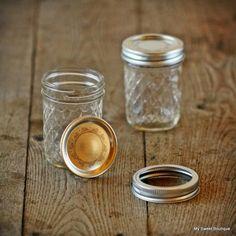 Mason jar nid d'abeilles - Hauteur 98 mm.  - Diamètre 63 mm.