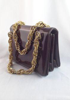 années 197080 chocolat marron cuir sac à main/sac à par casalupe