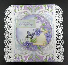 Heartfelt Creations card created by Lisa Dick - Lush Lilac Collection
